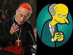 Cardinal Camillo Ruini in arte Eminem   a.k.a Mr Burns